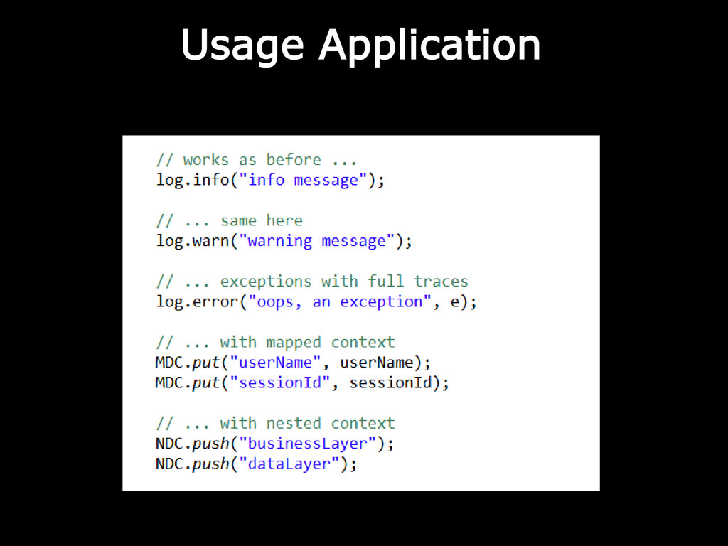 Usage Application