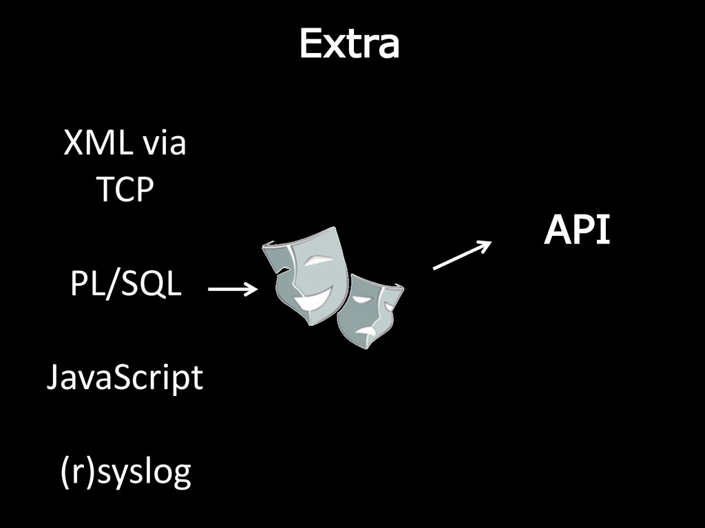Extra API XML via TCP PL/SQL JavaScript (r)sysl...