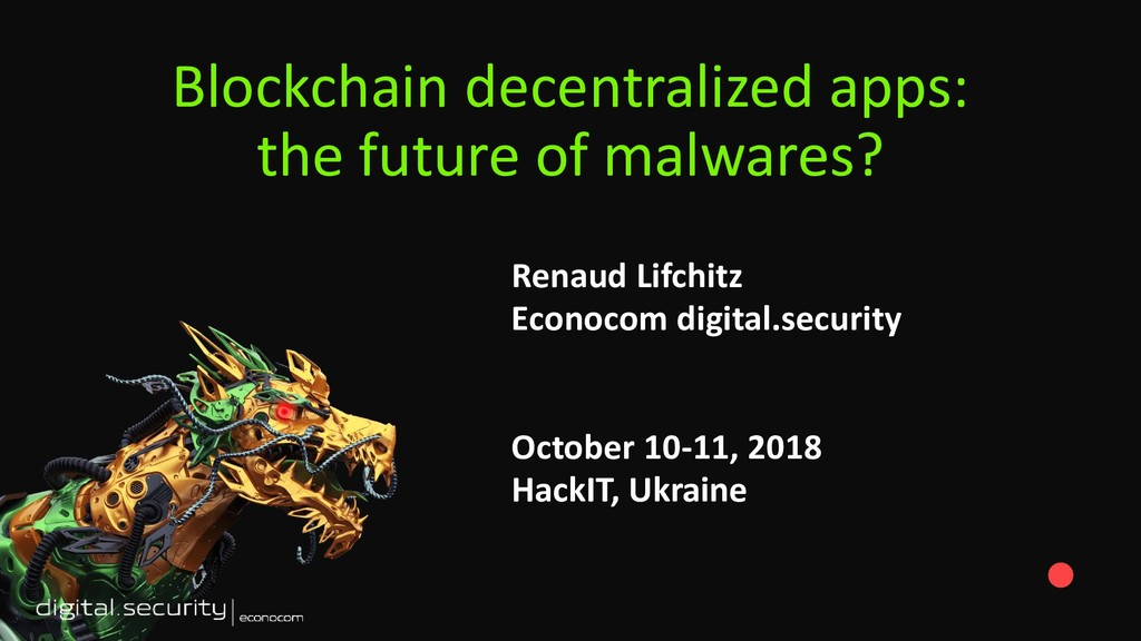 Blockchain decentralized apps: the future of ma...