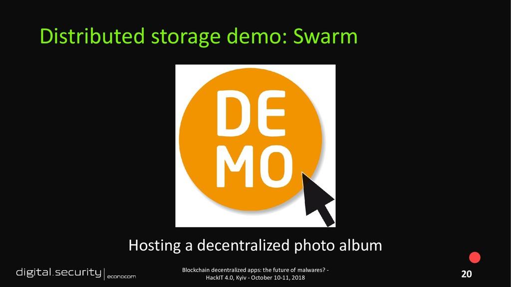 Hosting a decentralized photo album Blockchain ...