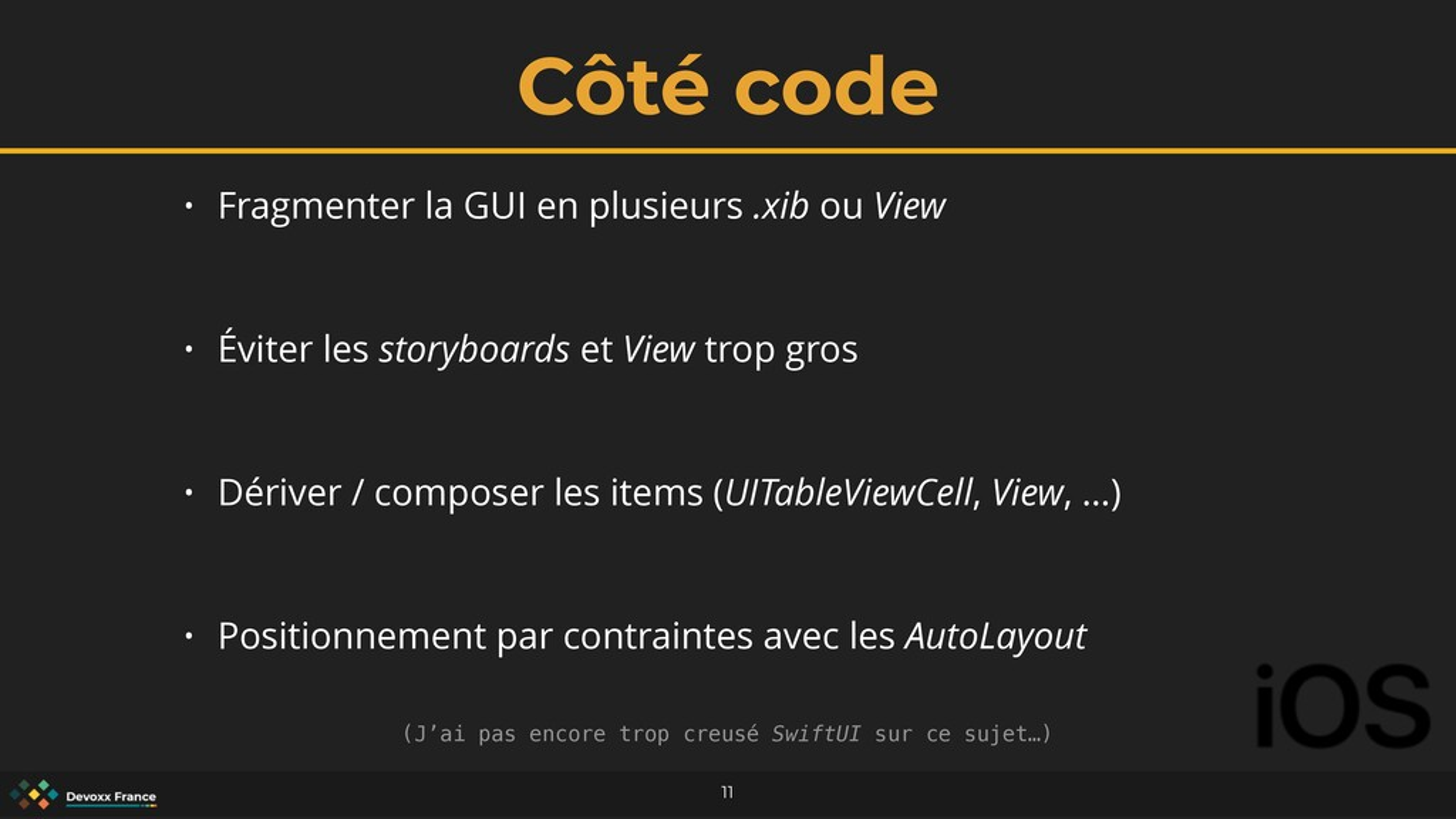 Côté code 11 • Fragmenter la GUI en plusieurs ....