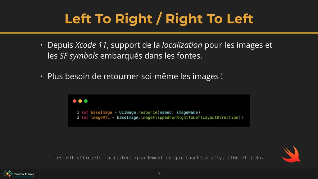 Left To Right / Right To Left 17 • Depuis Xcode...