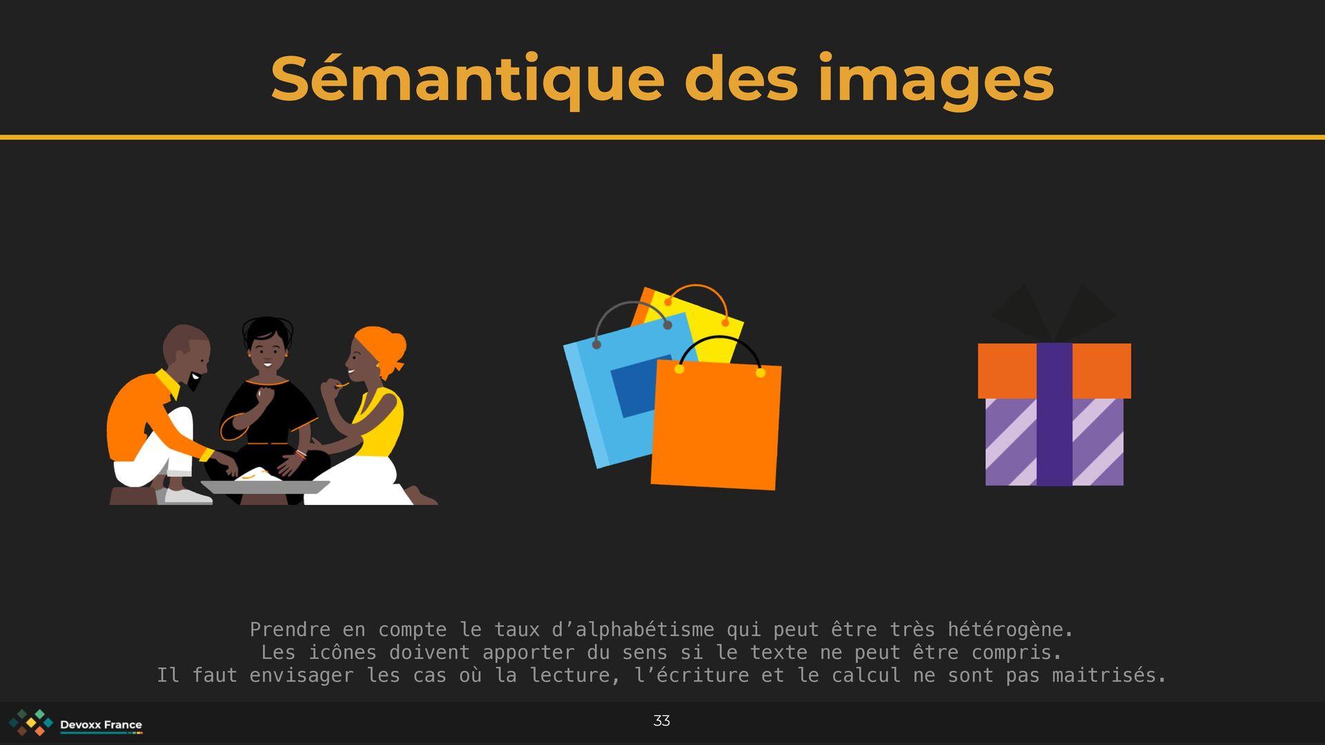 Sémantique des images 33 Prendre en compte le t...