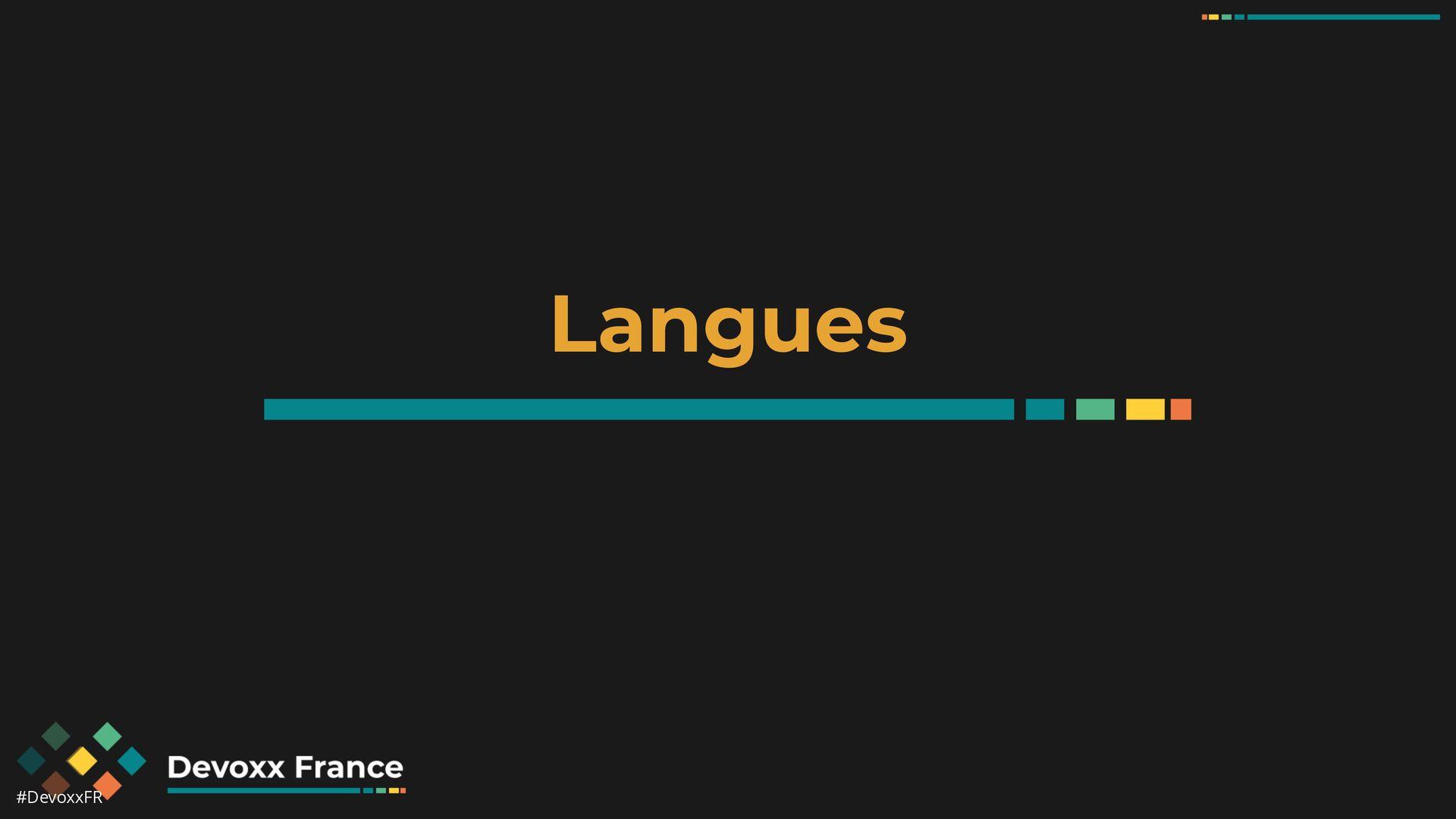 #DevoxxFR Langues