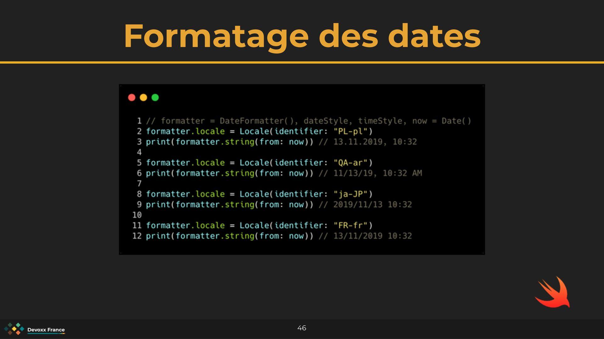 Formatage des dates 46