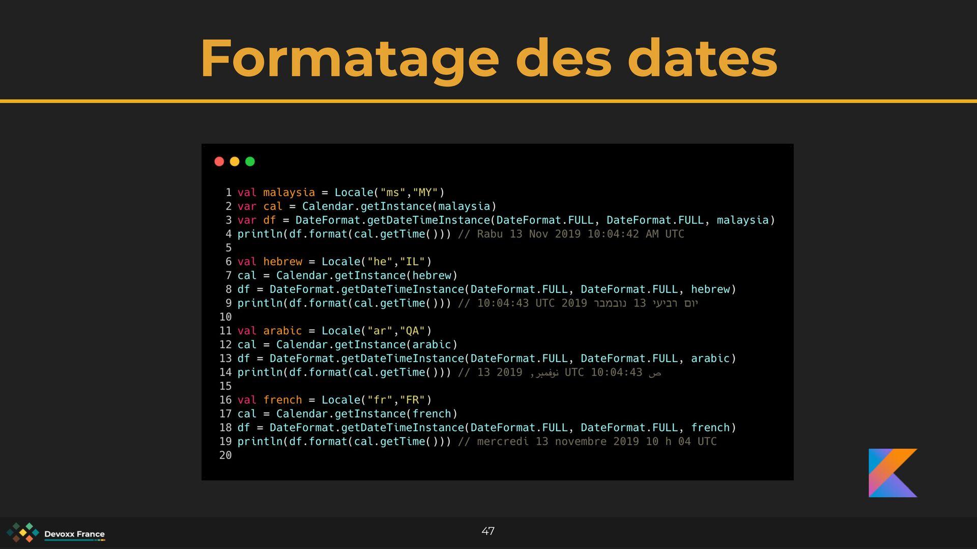 Formatage des dates 47