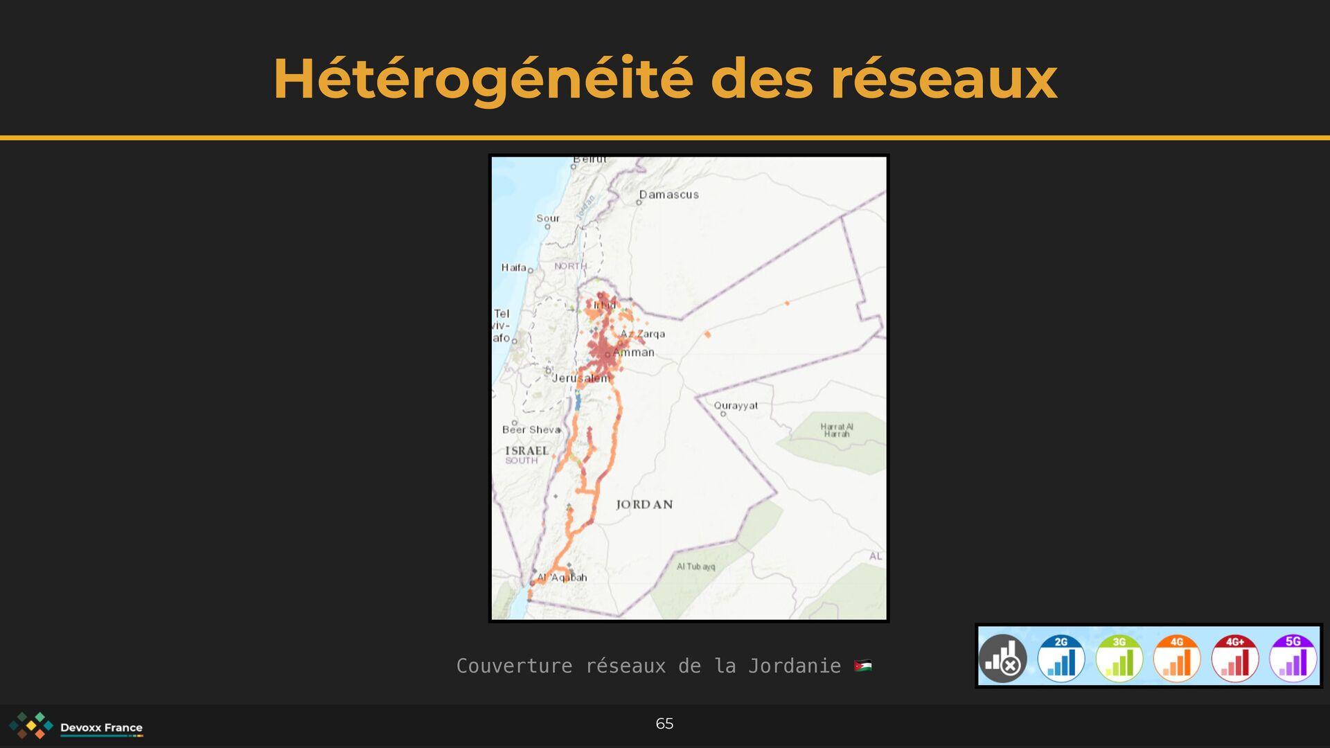 Hétérogénéité des réseaux 65 Couverture réseaux...