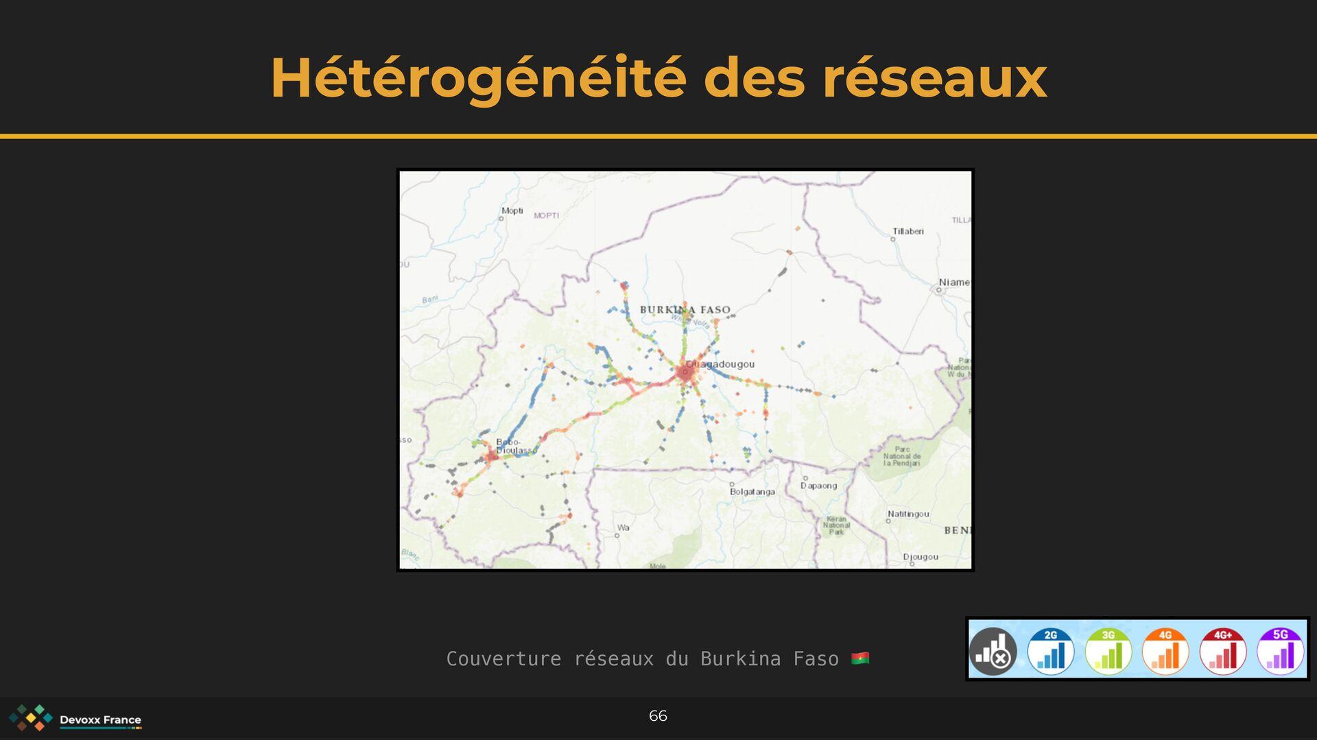 Hétérogénéité des réseaux 66 Couverture réseaux...