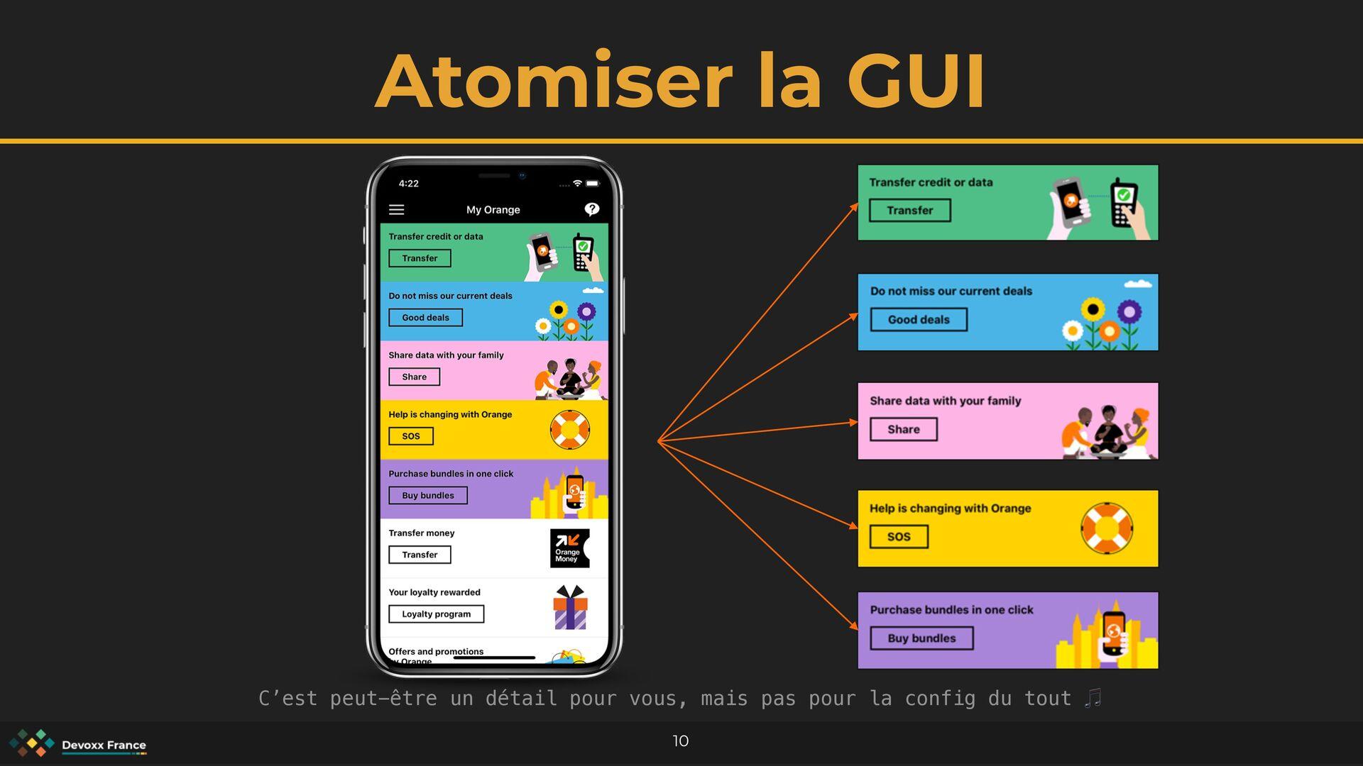 Atomiser la GUI 10 C'est peut-être un détail po...