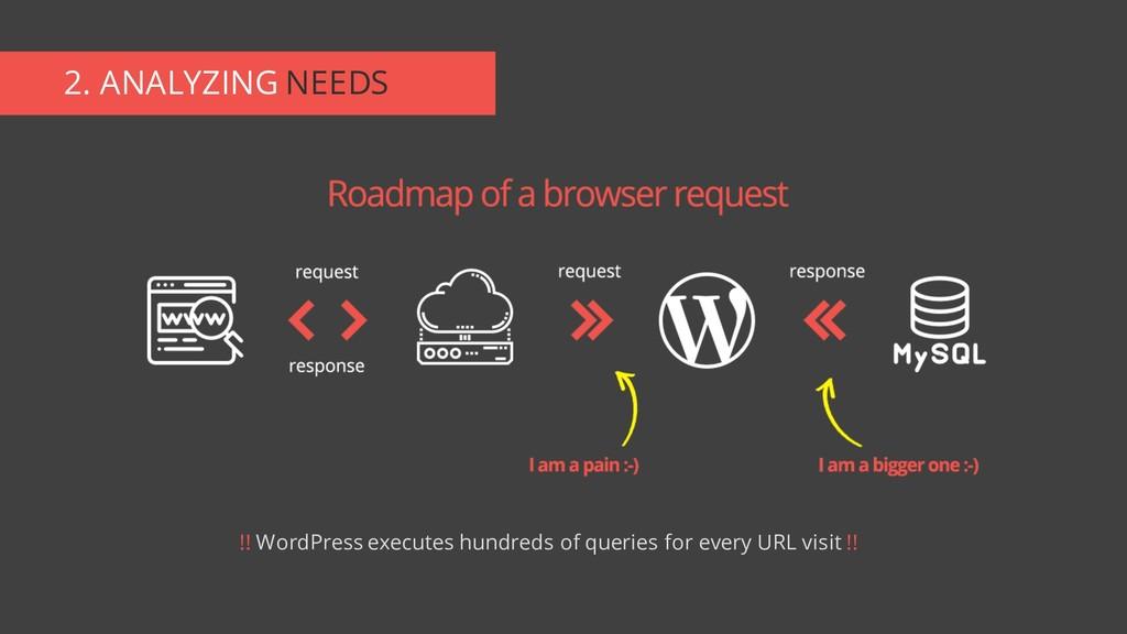 2. ANALYZING NEEDS !! WordPress executes hundre...
