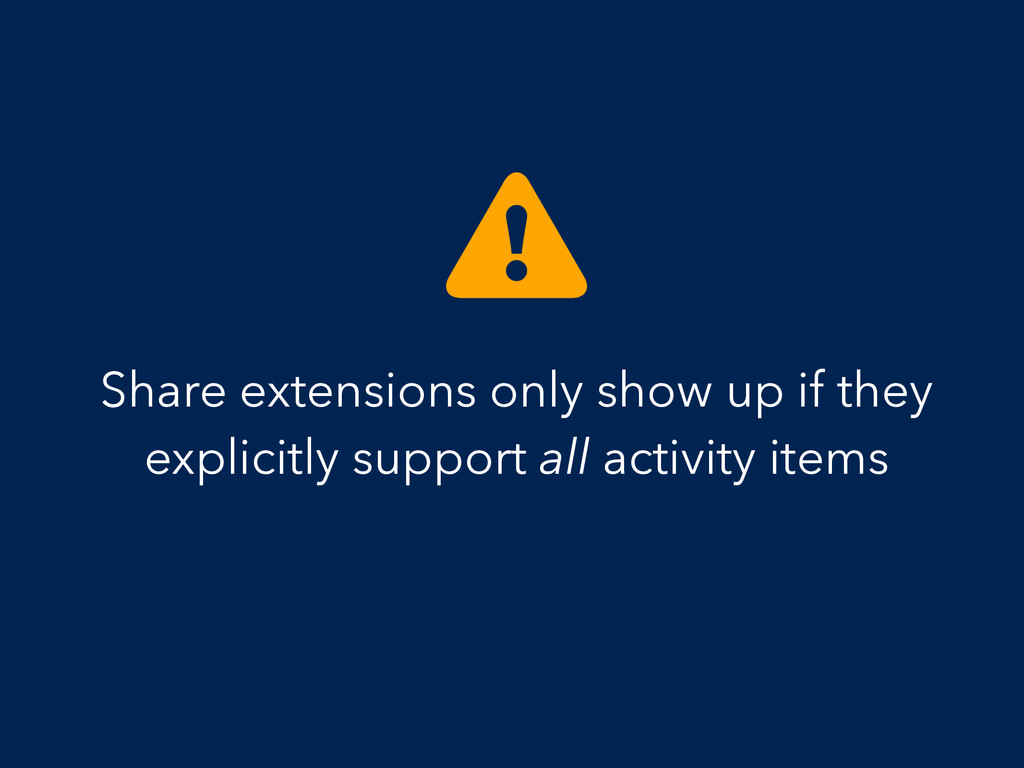 Share extensions only show up if they explicitl...