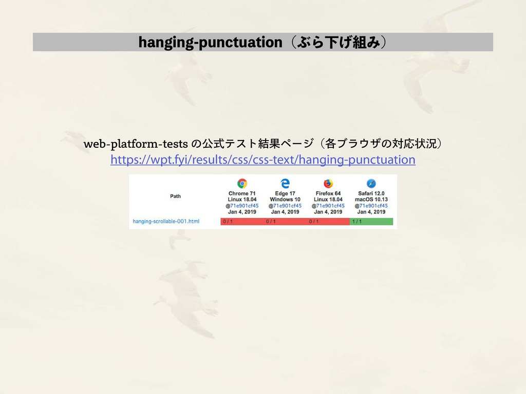 hanging-punctuation(ぶら下げ組み) web-platform-tests ...