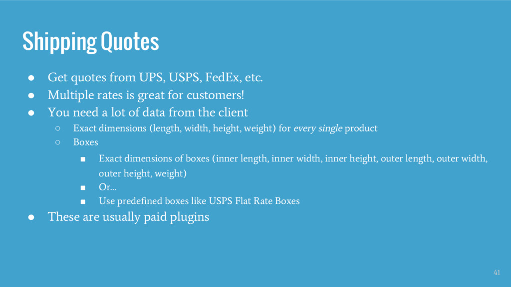 Shipping Quotes ● Get quotes from UPS, USPS, Fe...