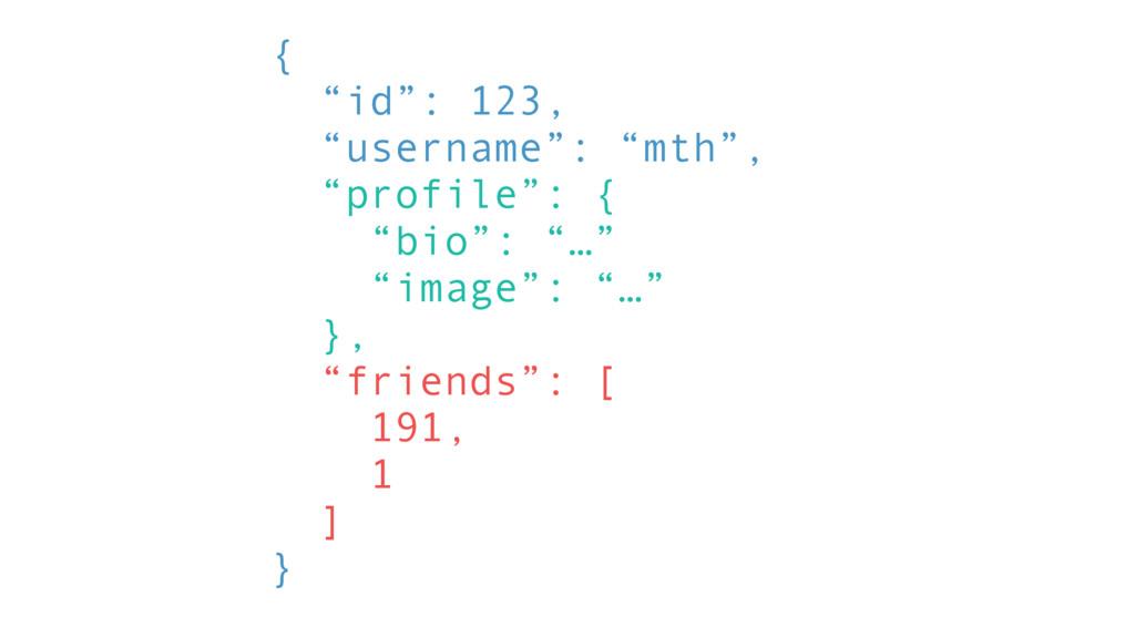 "{ ""id"": 123, ""username"": ""mth"", ""profile"": { ""b..."