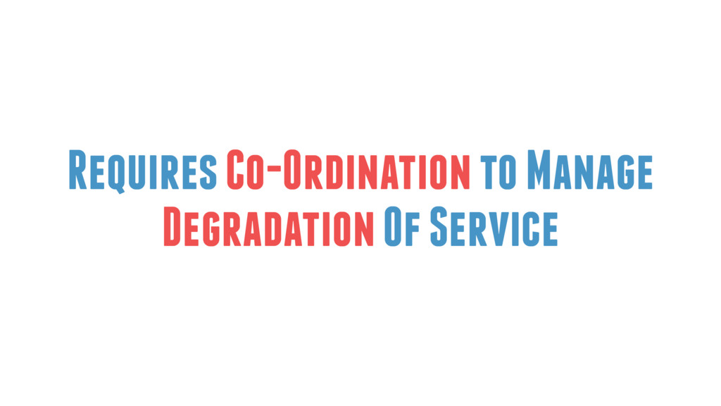 Requires Co-Ordination to Manage Degradation Of...