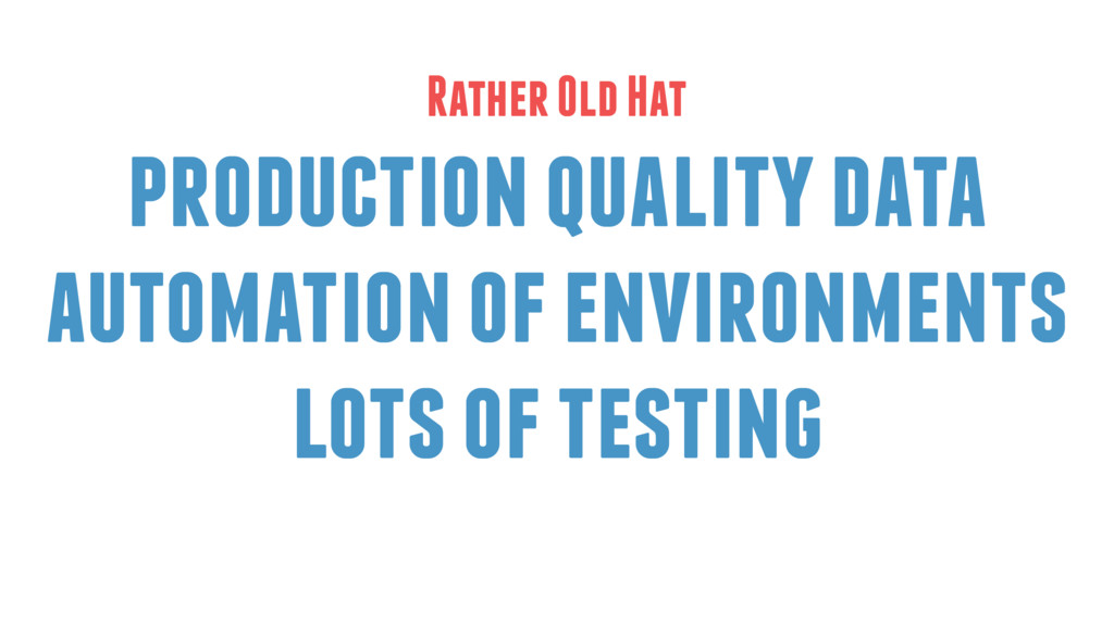 production quality data automation of environme...