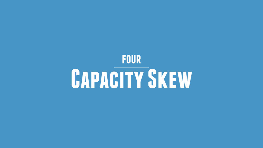 Capacity Skew four