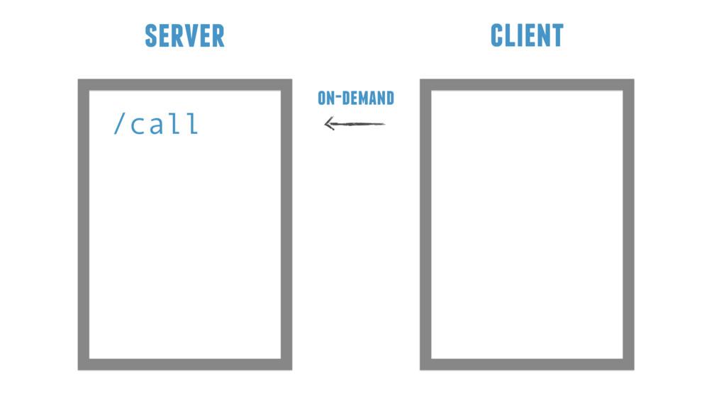 /call server client on-demand