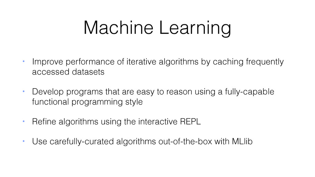 Machine Learning • Improve performance of itera...