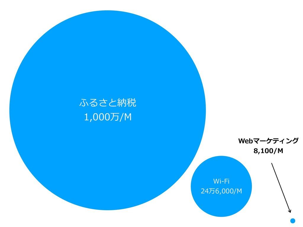 ふるさと納税 1,000万/M Wi-Fi 24万6,000/M Webマーケティング 8,1...
