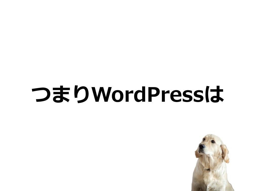 つまりWordPressは