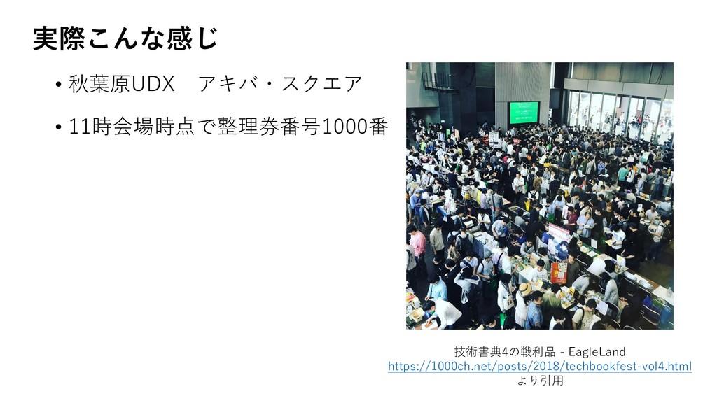 ࣮ࡍ͜Μͳײ͡ • 秋葉原UDX アキバ・スクエア • 11時会場時点で整理券番号1000番 ...