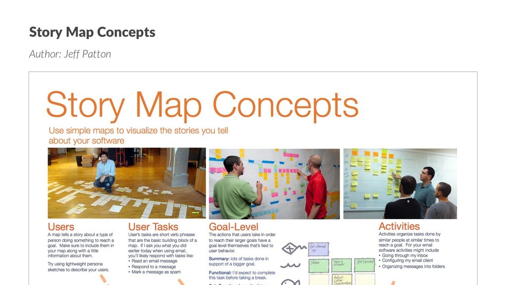 Story Map Concepts Author: Jeff Patton