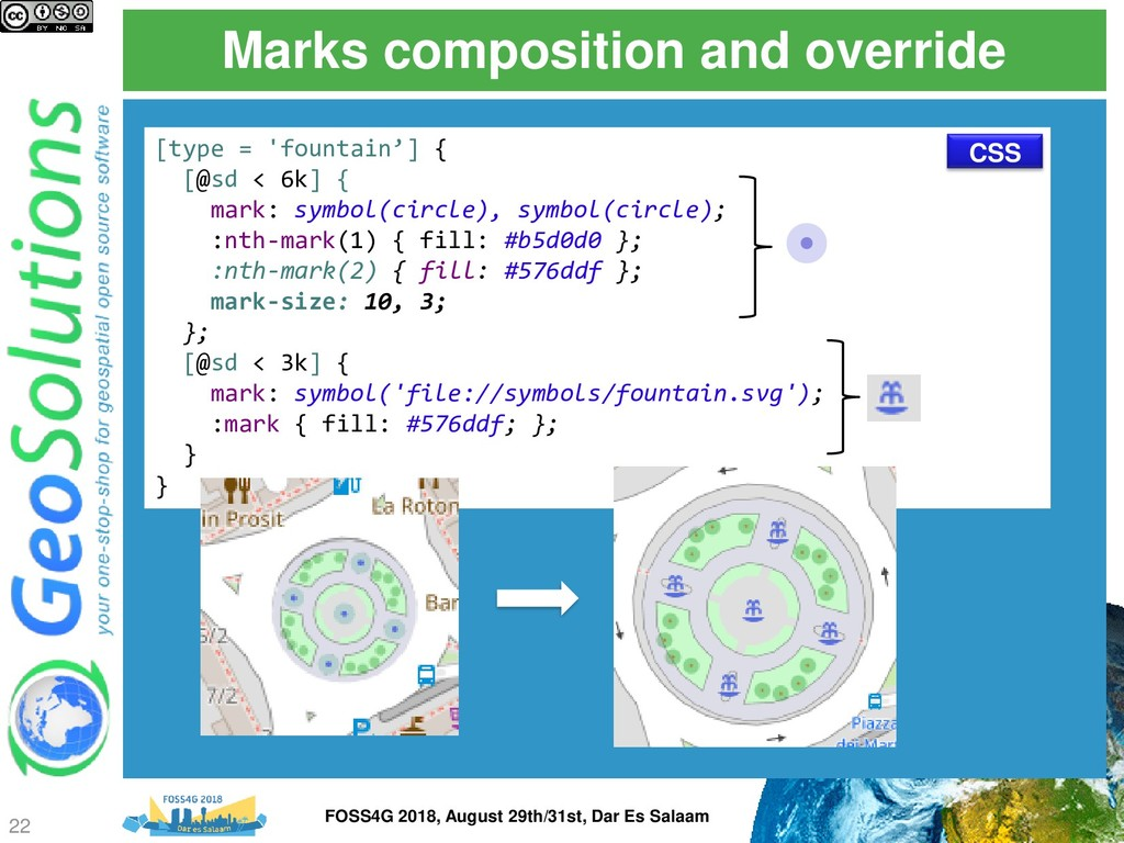 Marks composition and override [type = 'fountai...