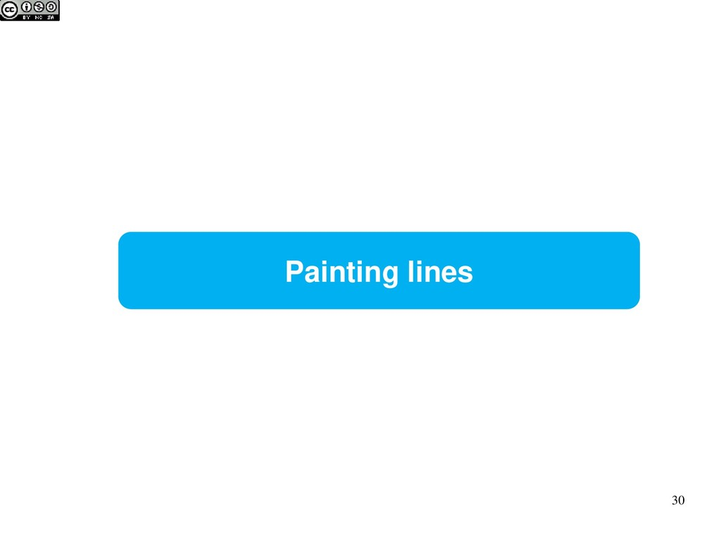 Painting lines 30