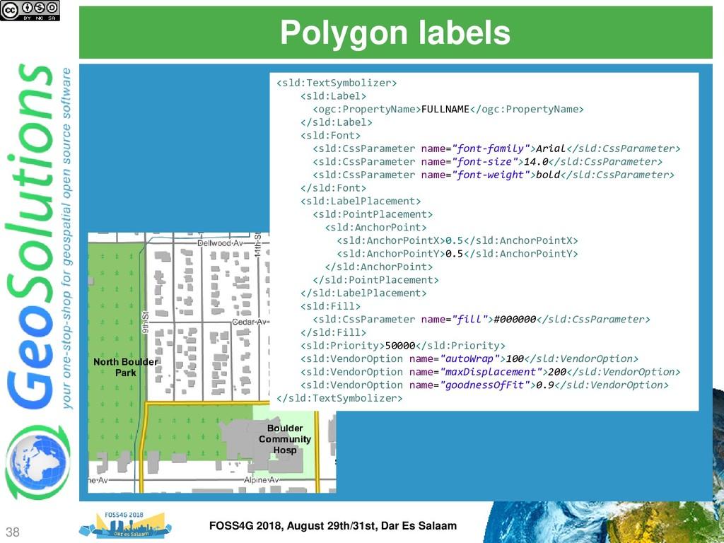 Polygon labels <sld:TextSymbolizer> <sld:Label>...