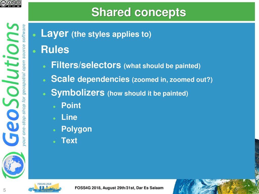 Shared concepts ⚫ Layer (the styles applies to)...