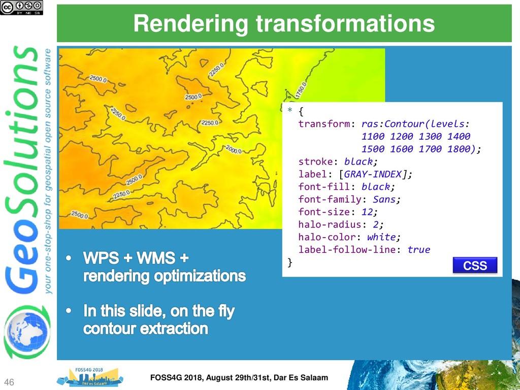 Rendering transformations * { transform: ras:Co...
