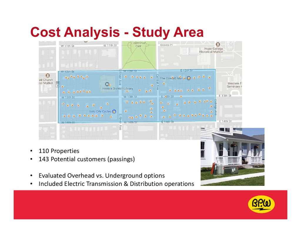 Cost Analysis - Study Area • 110 Properties • 1...