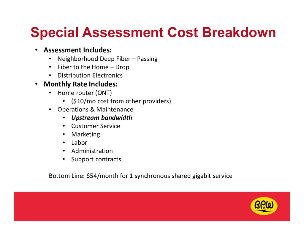 Special Assessment Cost Breakdown • Assessment ...