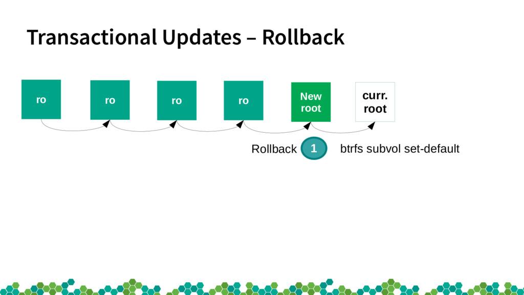 Transactional Updates – Rollback ro ro ro ro cu...