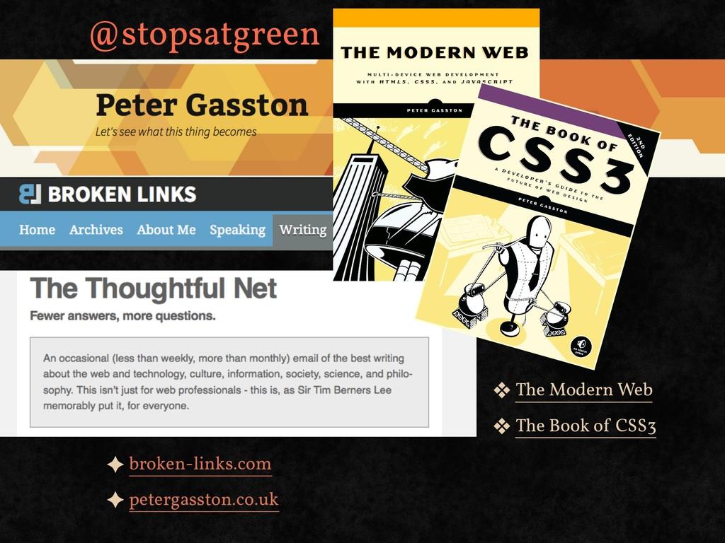 ✦ broken-links.com ✦ petergasston.co.uk ❖ The M...