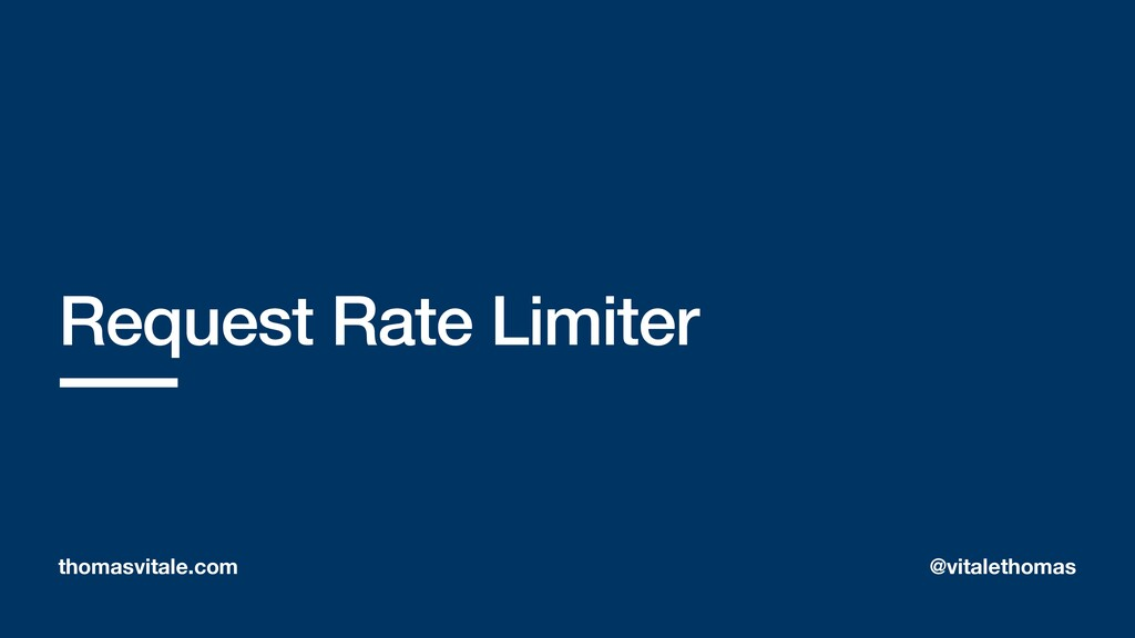 Request Rate Limiter thomasvitale.com @vitaleth...