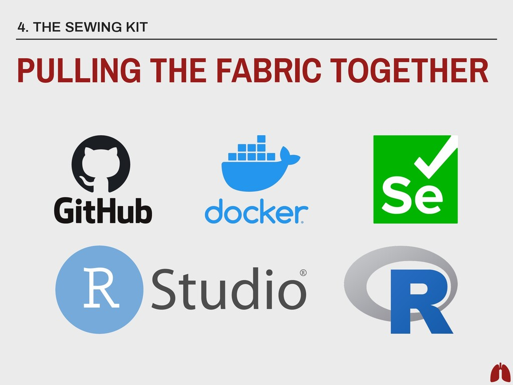 4. THE SEWING KIT PULLING THE FABRIC TOGETHER