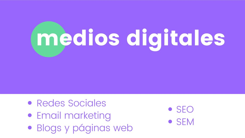 medios digitales Redes Sociales Email marketing...
