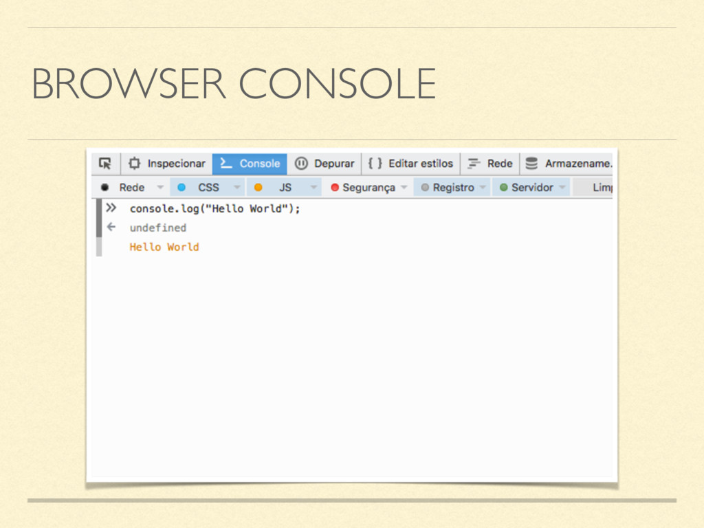 BROWSER CONSOLE