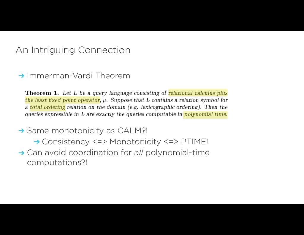 ➔ Immerman-Vardi Theorem ➔ Same monotonicity as...