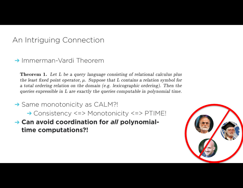 An Intriguing Connection ➔ Immerman-Vardi Theor...