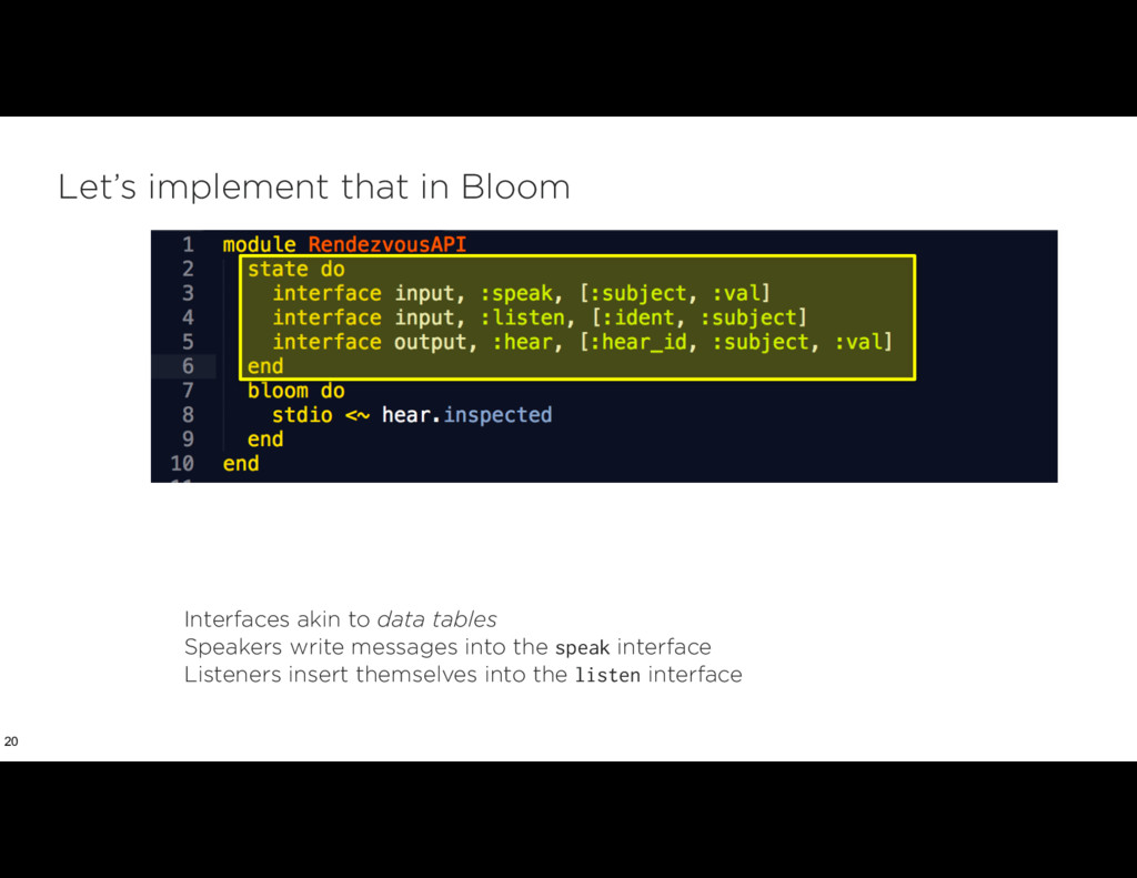 Let's implement that in Bloom 20 Interfaces aki...