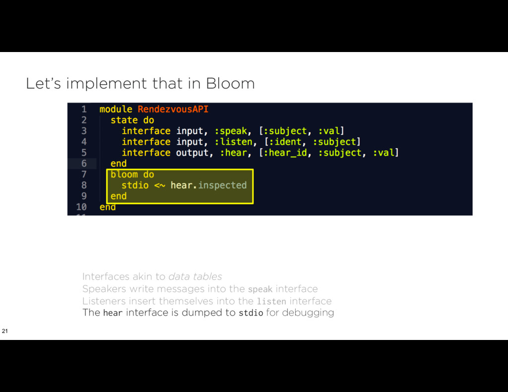 Let's implement that in Bloom 21 Interfaces aki...