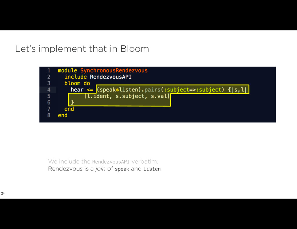 Let's implement that in Bloom 24 We include the...