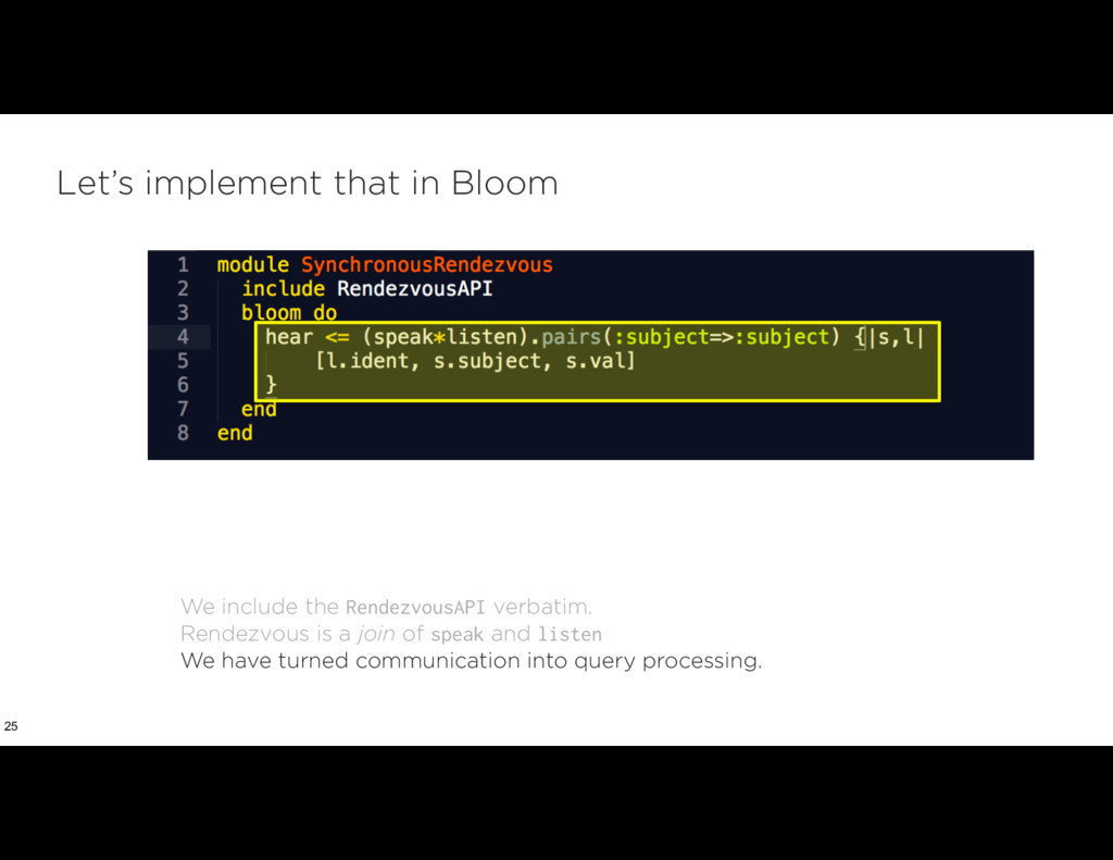 Let's implement that in Bloom 25 We include the...