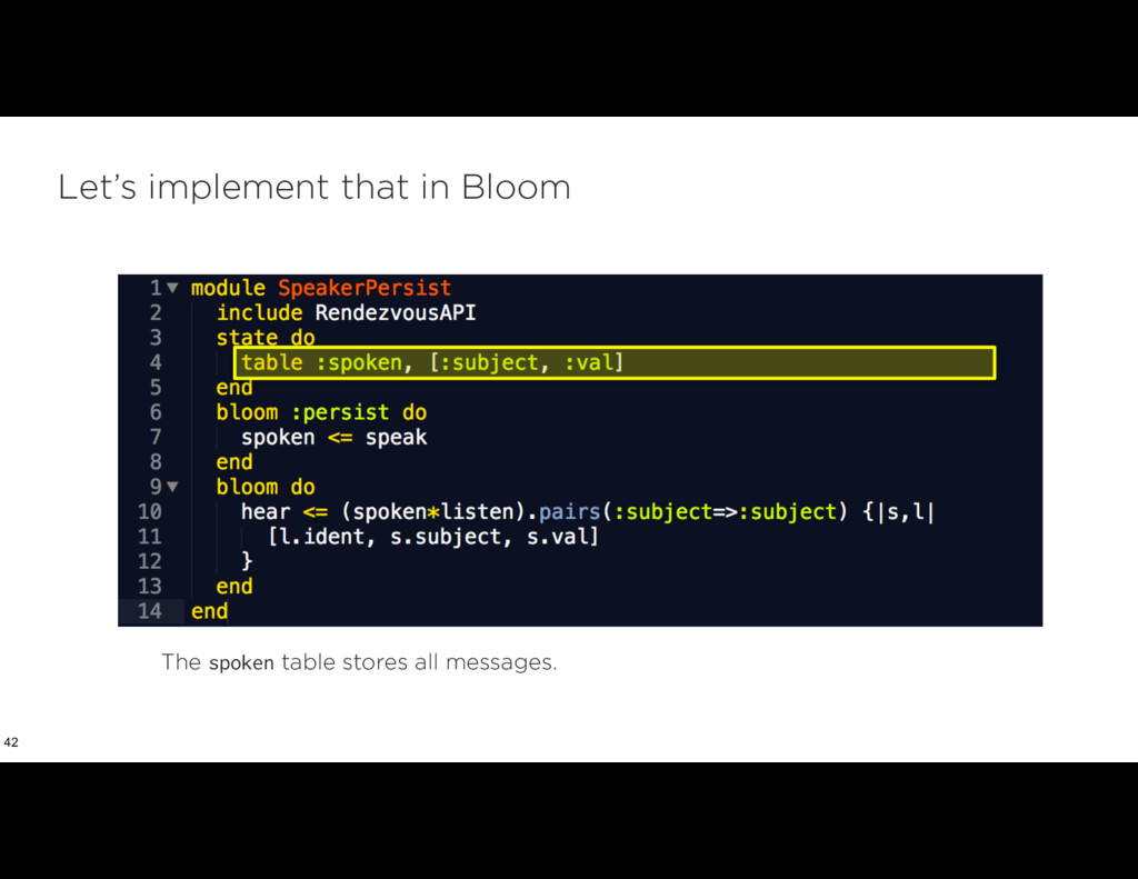 Let's implement that in Bloom 42 The spoken tab...