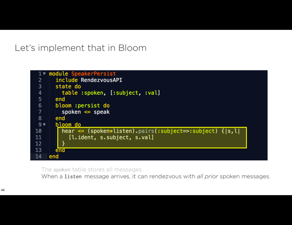 Let's implement that in Bloom 44 The spoken tab...