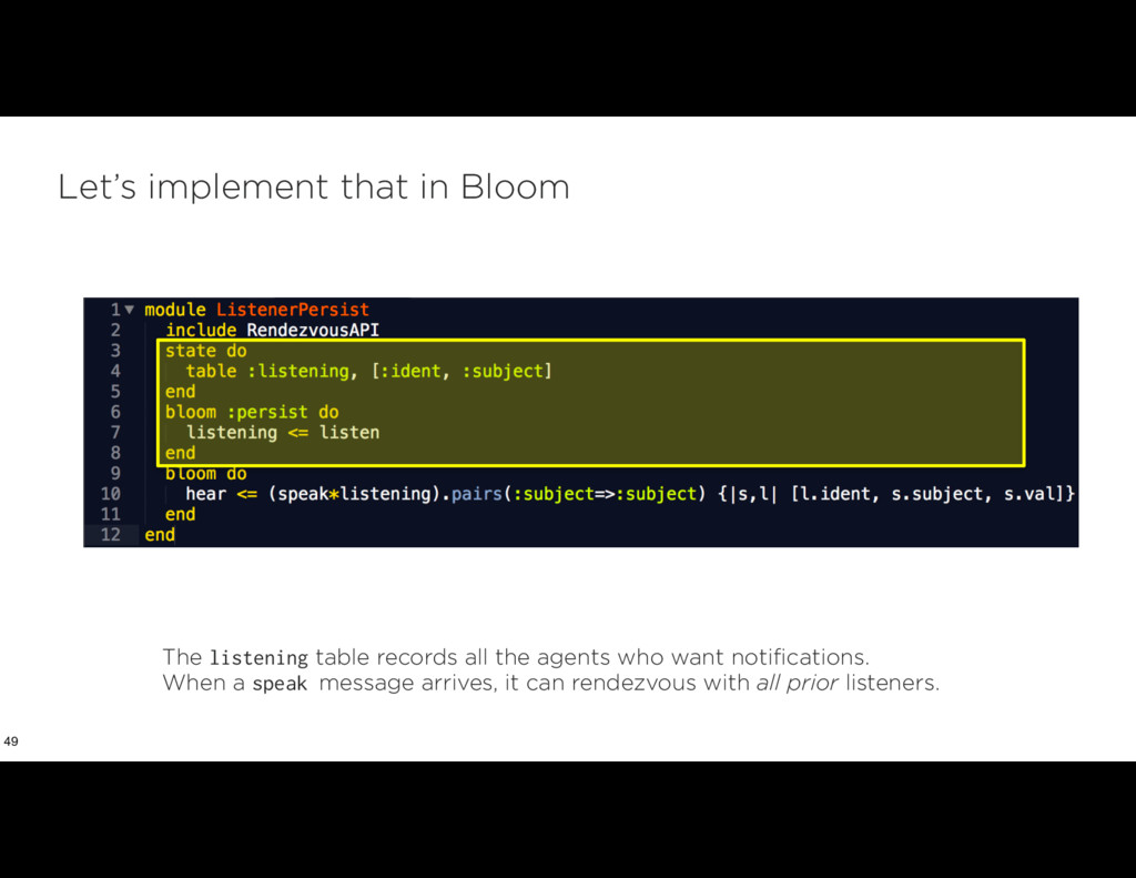 Let's implement that in Bloom 49 The listening ...