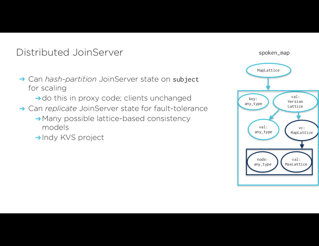 ➔ Can hash-partition JoinServer state on subjec...